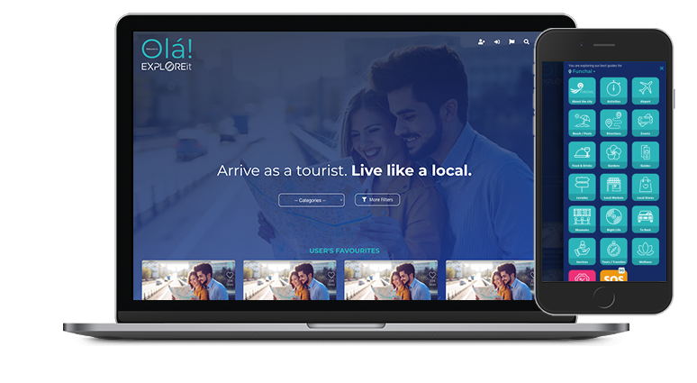 EXPLOREit APP Arrive as a tourist. Live like a local.